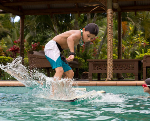 Fiji Resort Surfing the Waidroka pool