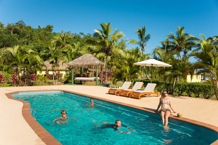 Fiji Resort Swim and Sunbathing time