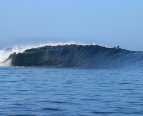 Surfing Fiji Pipe