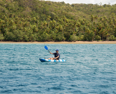 Fiji Kayaking to White Sand Beach
