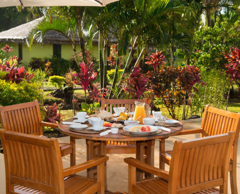 Fiji Resort Breakfast by the Pool Deck