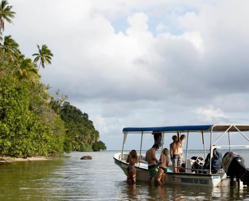Fiji Waidroka Resort Boat