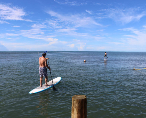 Fiji SUP Heading out the Pacific Ocean