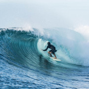 Surfing Fiji J's Barrel
